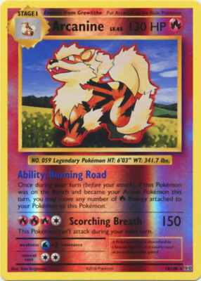 ARCANINE 18//108 XY Evolutions Reverse Holo NM//M new Pokemon
