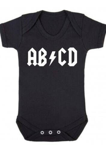Baby Junge,Mädchen,Abcd Rock Metal Goth Schwarz Weste,Strampler,Geschenk,Body