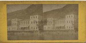 Germania Bord Del Reno Ems Foto Vintage Stereo Albumina
