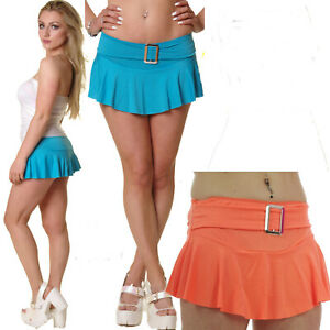 NEON-MICRO-MINI-SKIRT-BUCKLE-9-ins-LONG-FANCY-DRESS-GOTH-CYBER-RAVE-ALTERNATIVE