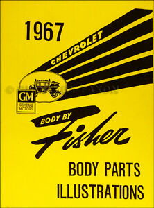 1966 Chevy Body Parts Illustration Book Impala and SS Caprice Bel Air Biscayne