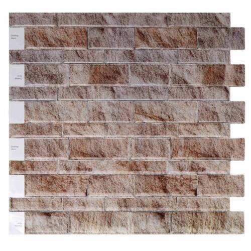 3D Self adhesive Wall tiles Brick Effect Tile Sticker Peel /& stick ALIT80708