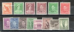 Australia 1937-49 set to 1s MNH