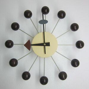 Classic-Retro-Design-Natural-Wood-Ball-Wall-Clock-George-Nelson-Walnut-Replica