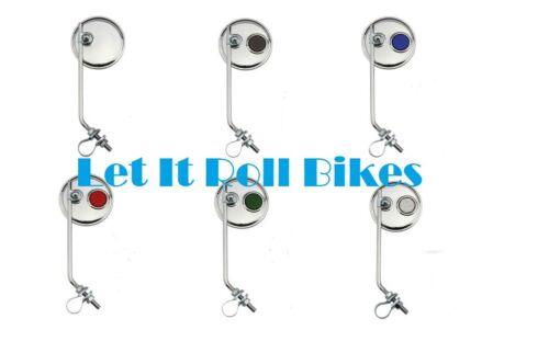 NEW BICYCLE ROUND MIRROR REFLECTOR LOWRIDER CRUISER MTB  BIKES CYCLING!