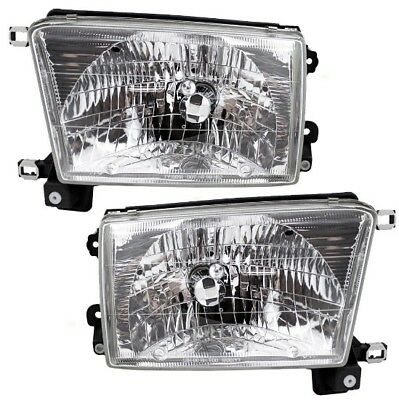 1999-2002 Toyota 4Runner Driver /& Passenger Headlights Lamps Assembly Pair Set