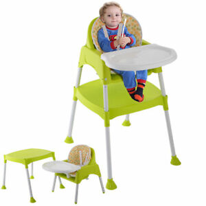 Beau 3 In 1 Baby High Chair Convertible Table Seat Booster Toddler Feeding Fold  Tray