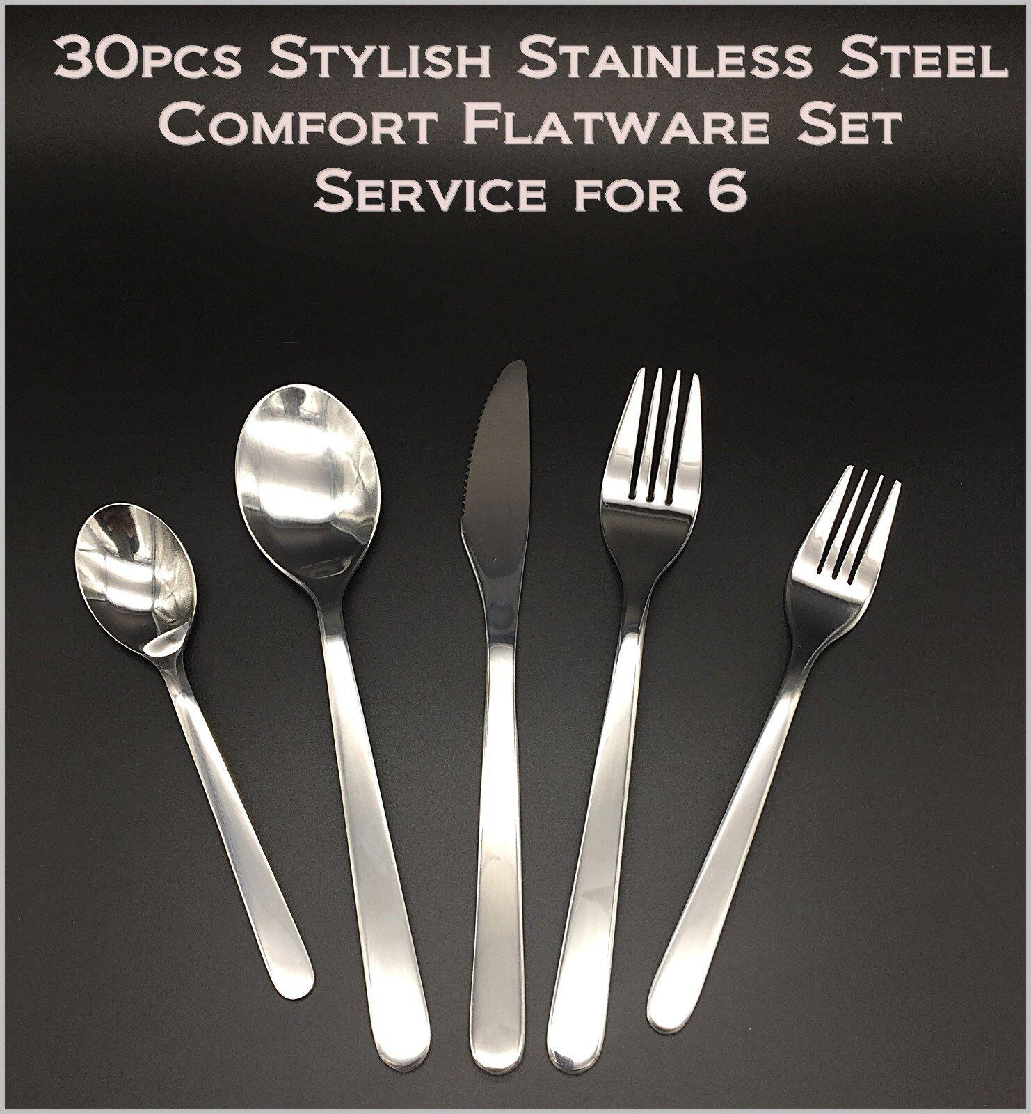 30 Pièces Neuf Moderne, Stylé & Classique Acier Inoxydable Flatware Set pour 6