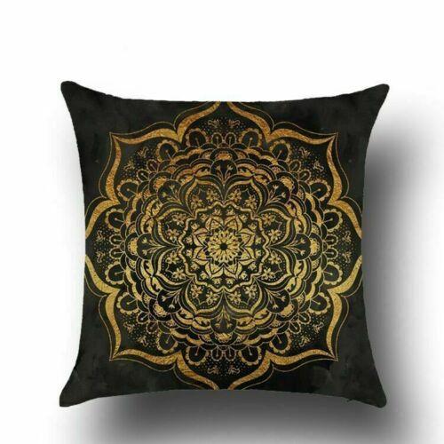 "Standard 18/"" Cotton Linen Pillow Case Sofa Car Waist Cushion Cover Home Decor"