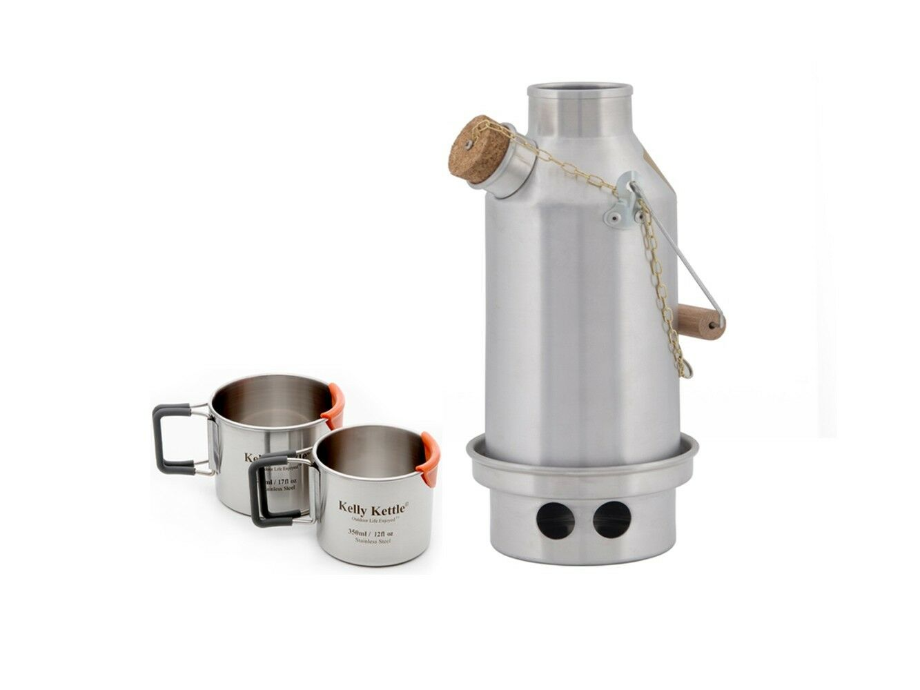 Stainless Trekker (0.6 litre) Kelly Kettle, Kettle, Kelly Kits etc. Wood/Multi Fuel Camp Stove 688dc6