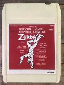 ZORBA Original Broadway Cast Soundtrack (8-Track Tape)