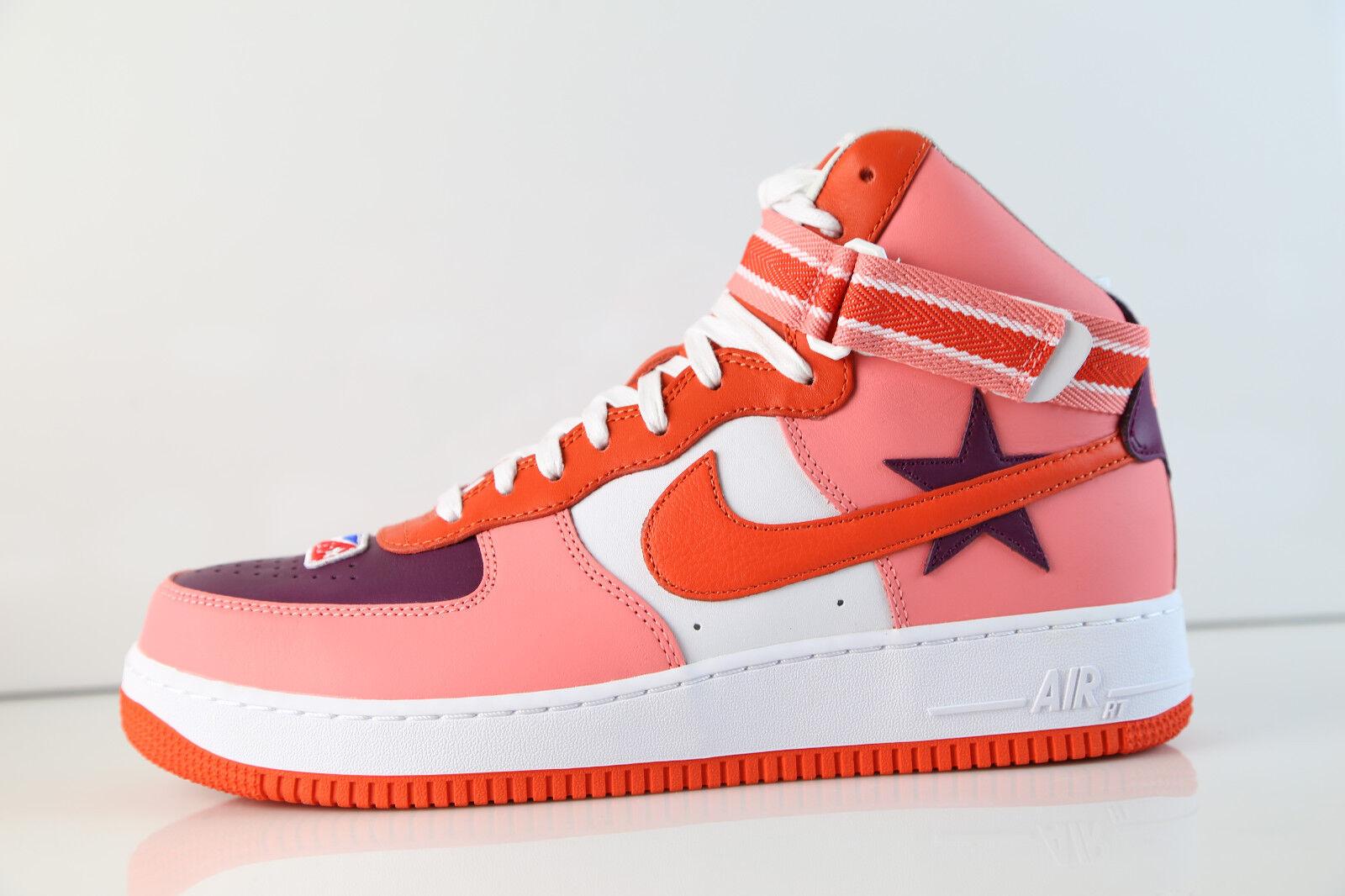 Nike air force 1 hi rt ricardo tisci sunblust bordeaux squadra arancione aq3366-601