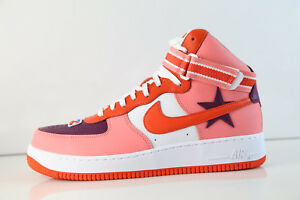 05a82e04b77ea3 Nike Air Force 1 Hi RT Ricardo Tisci Sunblust Bordeaux Team Orange ...
