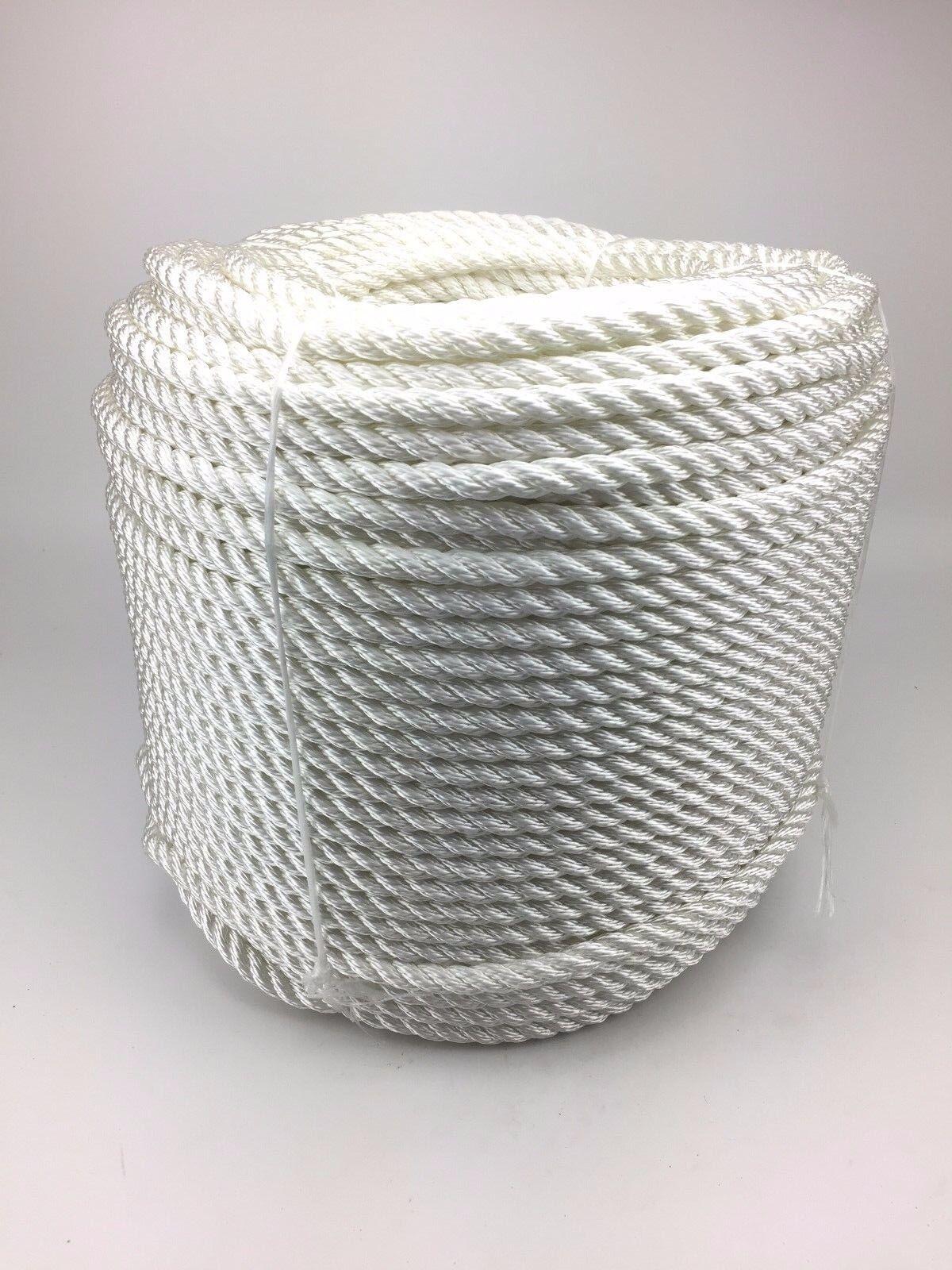24mm Nylon Bianco Cinghia x 45 Metri Ormeggi Ancoraggio Cinghie Barche