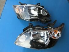 JDM Mazda MPV LW3W 2nd GEN 04-06 Headlight Lamps Lights BLACK 1 Pair LH & RH
