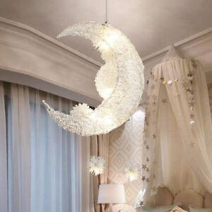 Moon Stars Led Ceiling Light Chandelier Kids Bedroom Lighting