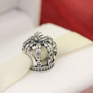a0899da0d6f0 Image is loading Authentic-Pandora-Silver-Fairytale-Crown-CZ-Bead-792058CZ-
