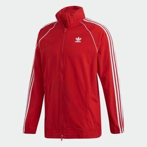 adidas SST windbreaker red