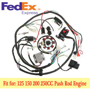 wiring harness kit for atv stator cdi coil electric wiring harness wire kit for motorcycle  stator cdi coil electric wiring harness