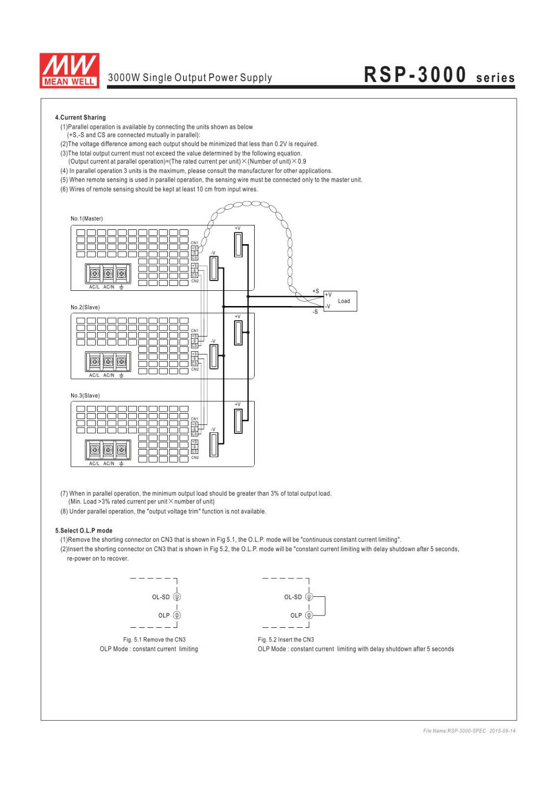 Mean Well Rsp 3000 24 Ac To Dc Power Supply Single Output Volt 30v 15a Variable Regulated Circuit Diagram 125a 3kw Ebay