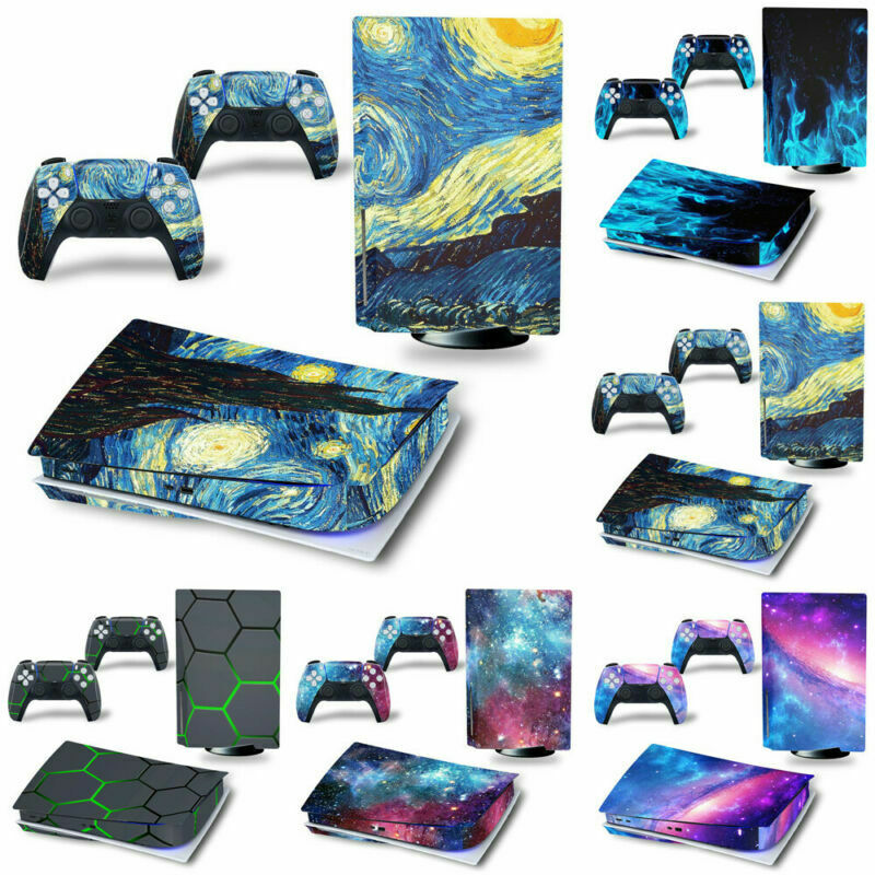 PS5 Sticker Vinyl Skin Wraps Decal For Playstation 5 Consoles Controllers Decor