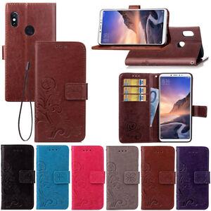 Pour-Xiaomi-mi-Max-3-Clapet-Cuir-Magnetique-Motif-Carte-Wallet-Coque-Support