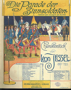 Leon-Jessel-034-Die-Parade-der-Zinnsoldaten-034-uebergrosse-alte-Noten