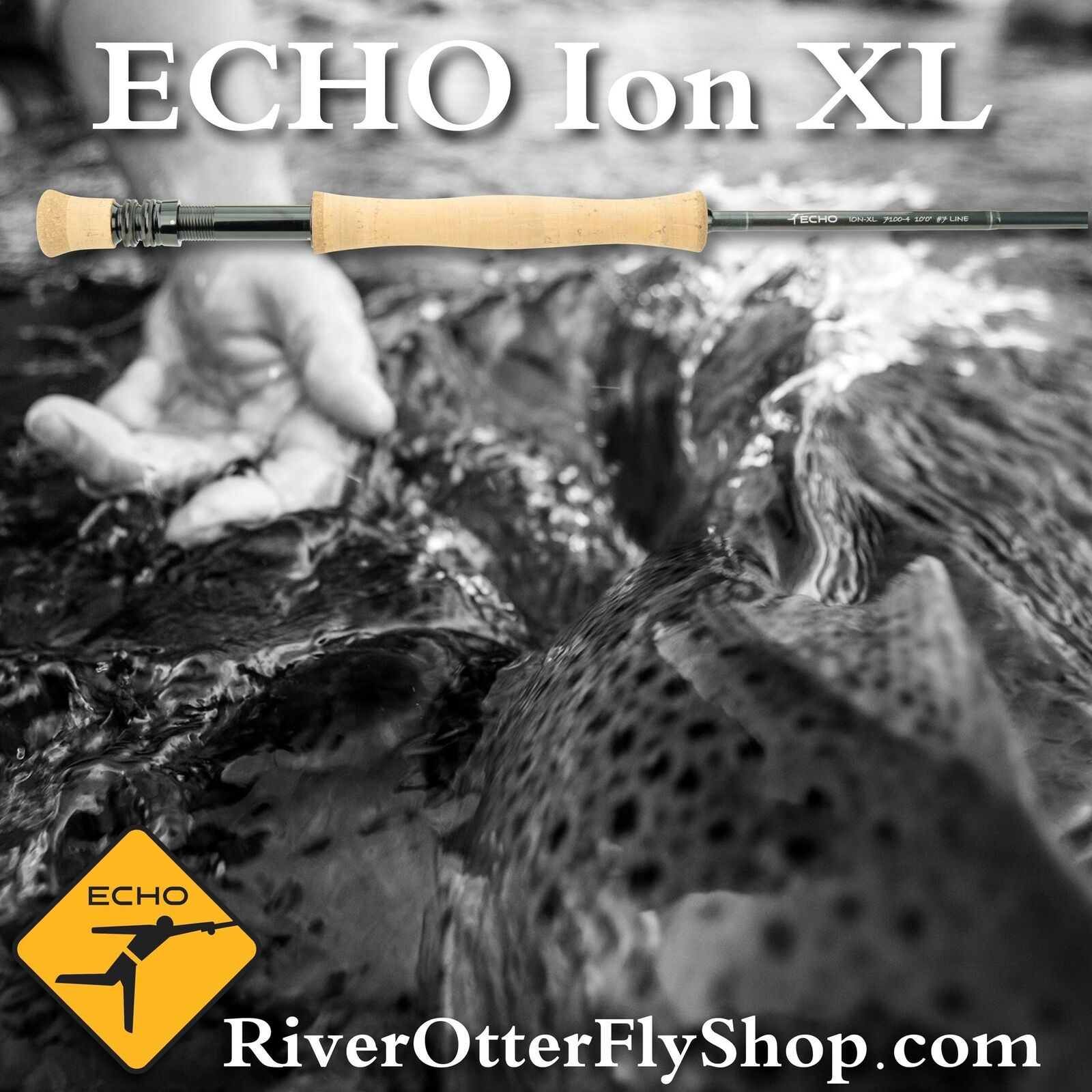 Echo Ion XL 5wt 10'0  Fly Rod - Lifetime Warranty - Free Shipping