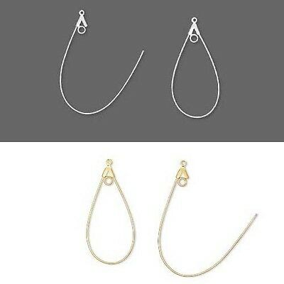 10 Beading Hoop Earring Finding Components w/ Loop Big-Small Plated Brass Metal