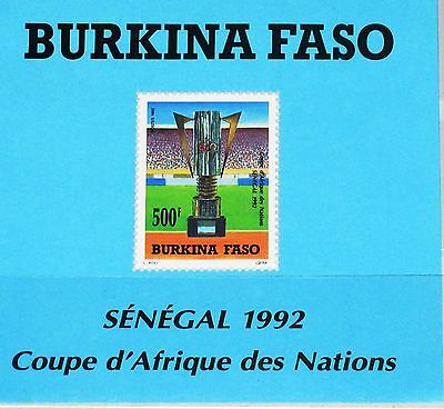 Intellektuell Burkina Faso 1992 Block 136 S/s 941 African Soccer Cs Fußball Football Mnh Feines Handwerk Briefmarken