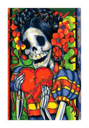 Dia De Los Muertos Day of the Dead DIGITAL Counted Cross Stitch Pattern Chart