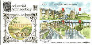 22-Carat-Gold-Benham-Official-First-Day-Cover-1989-Industrial-Archaeology-G035