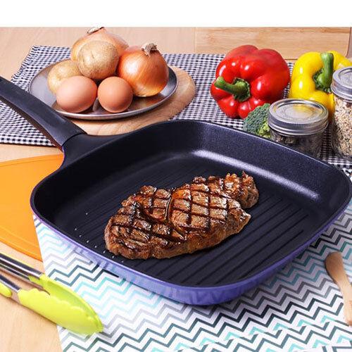 "Kitchen Art Square Frying Grill Pan ""Gril Pan 28cm"" Aluminium Die Casting"