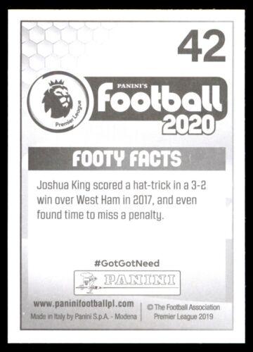 AFC Bournemouth Panini Fútbol 2020-Joshua King Nº 42