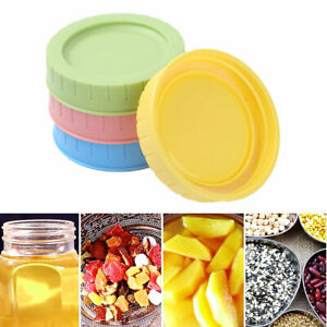 4pcs-70mm-Plastic-Storage-Leakproof-Replacement-Caps-Lids-amp-Silicone-Seal-O-Rings
