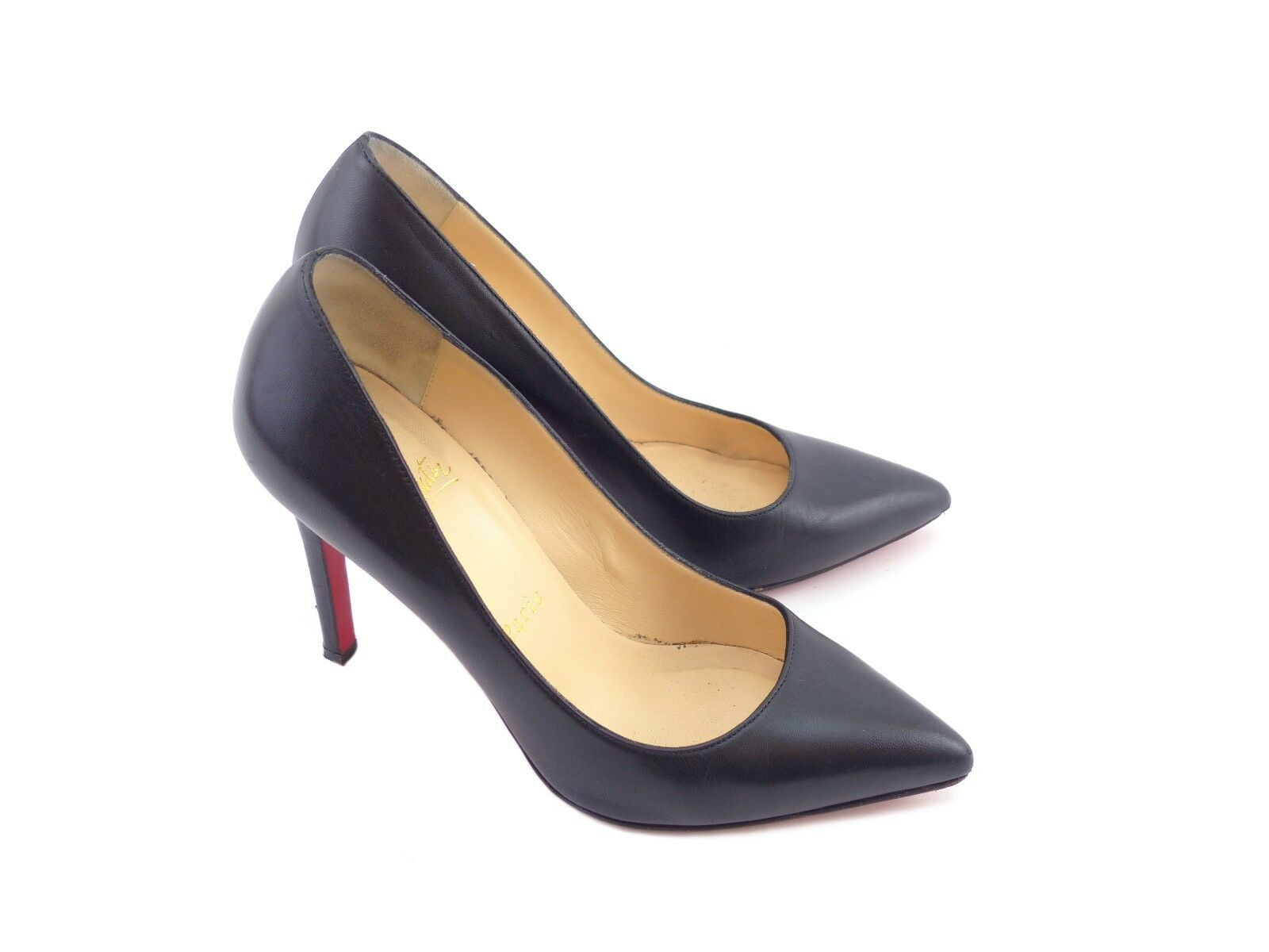 Christian Louboutin Leather 'Pigalle 100' Black Kid Leather Louboutin [ 55% OFF  ] 04e290