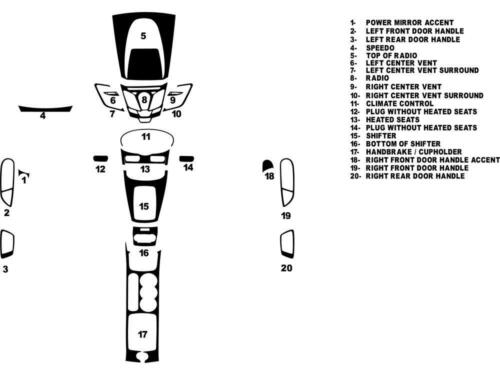Rdash Dash Kit for Ford Fiesta 2011-2015 Auto Interior Decal Trim