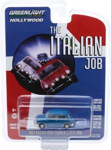 1:64 Hollywood Series #28 The Italian Job 1967 Austin Mini Cooper S Blue w//Black