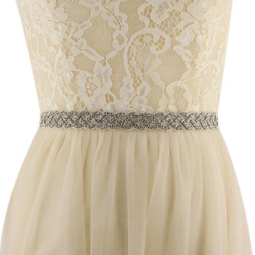 Wedding Dress Sash Belt Rhinestone Bridal Dress Belt Crystal Applique
