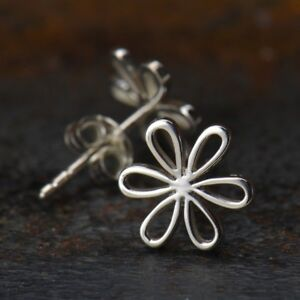 Daisy-Daisies-Flower-Floral-Sterling-Silver-925-Stud-Studs-Earrings-Gift-Girl