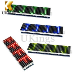 MAX7219-Microcontroller-4-In-1-Display-LED-Dot-Matrix-Module-4-Colors-5P-Line