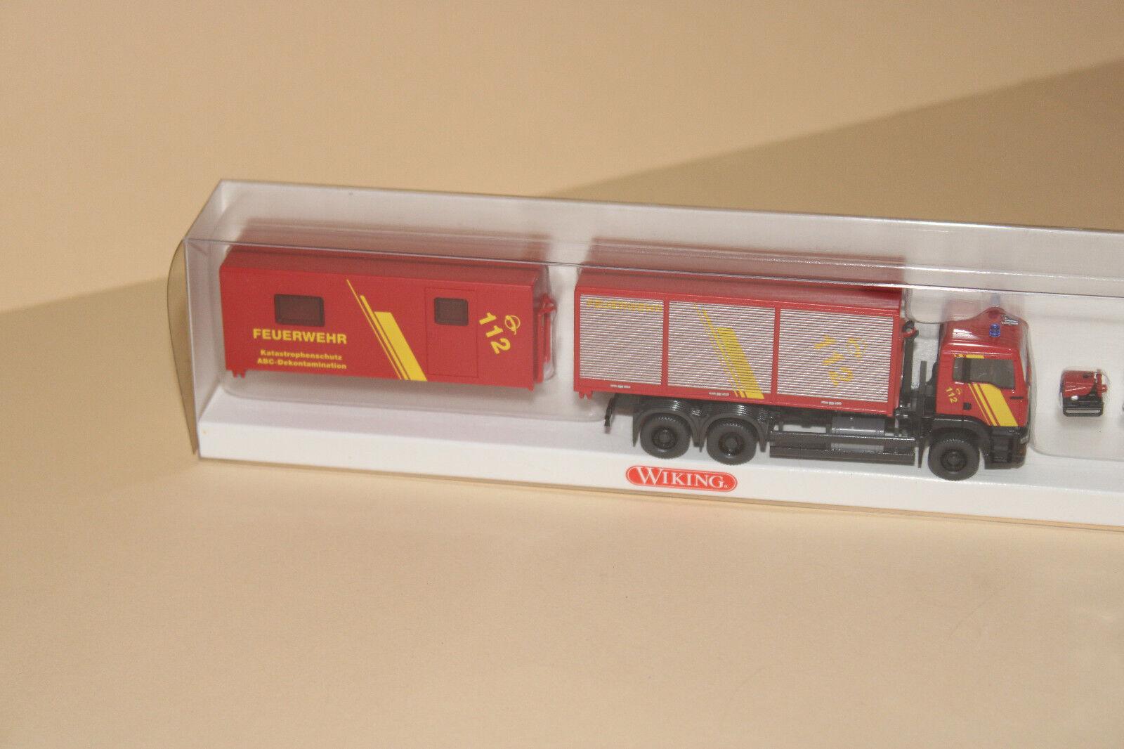 Wiking 06250343    Feuerwehr-Set mit OVP 60b45a