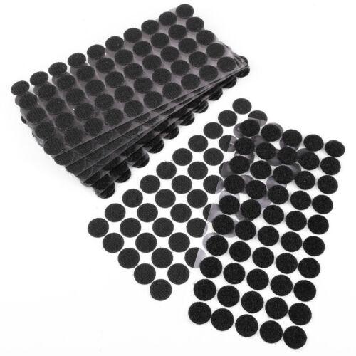 50//250 Paar Rund selbstklebende Klettpunkte Klebepunkte Klettverschlüsse Nähen