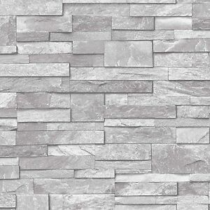 Grandeco carta da parati realistico pietra muro di for Carta da parati effetto muro