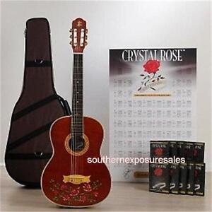 esteban rock on collection crystal rose guitar nylon string guitar package ltd. Black Bedroom Furniture Sets. Home Design Ideas