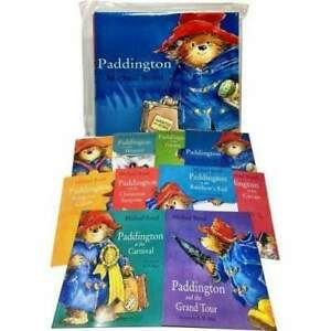 Paddington-Bear-10-Books-Collection-Pack-Set-in-Carrier-Bag-By-Michael-Bond-NEW