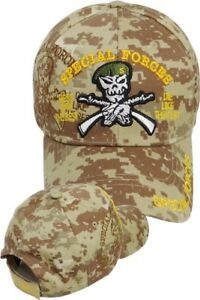 0ea06c377 Details about US Army SPECIAL FORCES Ball Cap Ranger Green Beret OEF OIF  Gulf Hat DESERT CAMO