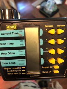 mister landscaper mlwt elec electric water timer ebay