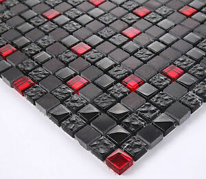 Bunte Fliese  15x15 cm grau glanz Villeroy und Boch  Mosaik basteln F61