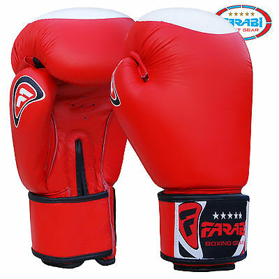 Farabi Force Boxing Gloves Sparring Training Punching Real Leather Gloves